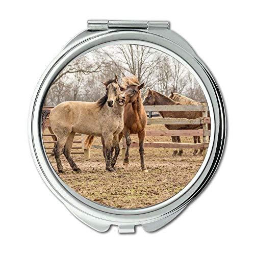 Spiegel, Compact Mirror, Landwirtschaft Tiere hautnah, Taschenspiegel, Tragbare Spiegel