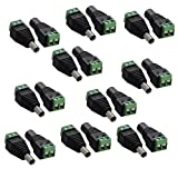 Xgeek® 10 pairs 5.5mm x 2.1mm 12V DC Power Male & Female Jack Connector Plug Adapter Adaptor for CCTV Camera (10 pairs Male & Female)