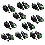 Xgeek® 10Paar 5,5mm x 2,1mm 12V DC Netzstecker und -Buchsen, Adapter für CCTV Kamera (10Paar Stecker und Buchsen)
