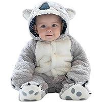 Adorel Baby Overall Kost/üm Tier Winter Strampler mit Kapuze