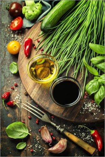 Posterlounge Acrylglasbild 40 x 60 cm: Gesundes Bio Gemüse und Gewürze von Editors Choice - Wandbild, Acryl Glasbild, Druck auf Acryl Glas Bild