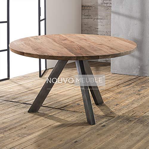 Mesa de comedor redonda de madera maciza Savana: Amazon.es: Hogar