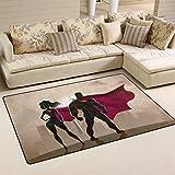 Maschio e Femmina supereroi Welcome Mat Durable zerbino scarpe raschietto Outdoor tappeto design per porta anteriore 59,9x 39,9cm