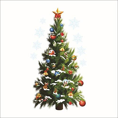 MAYOGO Weihnachten Baum 3D Wandaufkleber Aufkleber,Dekoration Weihnachten Modern 70x50cm,45x82cm