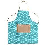 ZJL220 Rhombus Hombres Mujeres Delantal Inicio Cocina Restaurante Cocinero a Prueba de Agua Vestido de Cocina Azul Oscuro