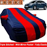 #5: Autofact Car Body Cover for Maruti New Baleno (Mirror Pocket , Premium Fabric , Triple Stiched , Fully Elastic , Red / Blue Color)