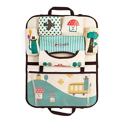 Preisvergleich Produktbild HomDsim Cartoon Autositz Zurück Organizer Aufbewahrungsbeutel Hängen Auto Organizer Taschen Tasche für Kinder Kinder