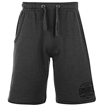 Lonsdale Mens Box Lightweight Shorts Pants Bottoms Boxing Sports Clothing Charcoal M XS