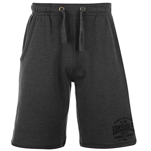 Lonsdale Herren Boxing Shorts Boxen Kurze Hose Sport Trainingshose Sporthose Grau Medium