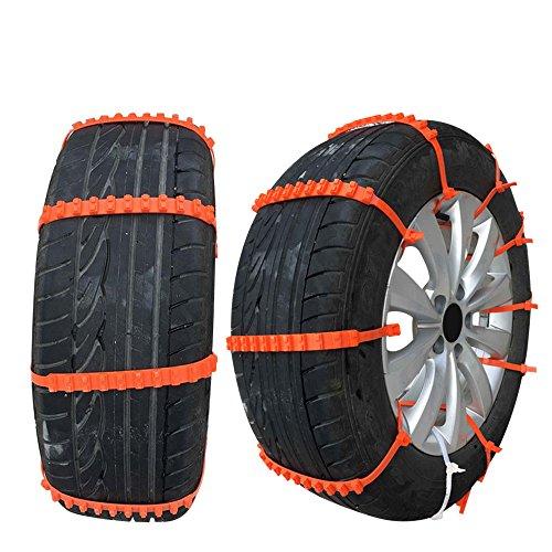 Kkmoon 10pcs calze da neve auto mini universale tyres chains per auto / suv car-styling antiscivolo autocross all'aperto