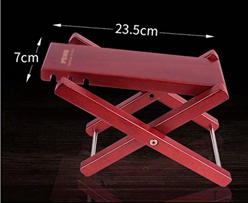 Imagen de reposapiés para  3 altura ajustable / 4 pedal de  de altura ajustable pedal de  de madera sólida clásica rojo / color de madera pedal de   color  mahogany color[3]  alternativa