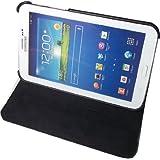 """Cleverline CV-SAM-TAB3/8R - Funda giratoria para Samsung Galaxy Tab 3 con soporte para escritorio (8"""", imitación de cuero), color negro"""