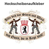 Aufkleber Wetterfest Hüte dich DDR Ostberlin 15 oder 53cm Ossi Hauptstadt Zone