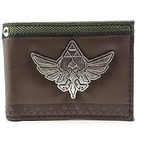 Nintendo Legend of Zelda Skyward Sword Brown ID Card Bi-Fold Wallet