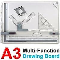 Yosoo Profesional A3 Tablero de dibujo con movimiento paralelo y ángulo ajustable