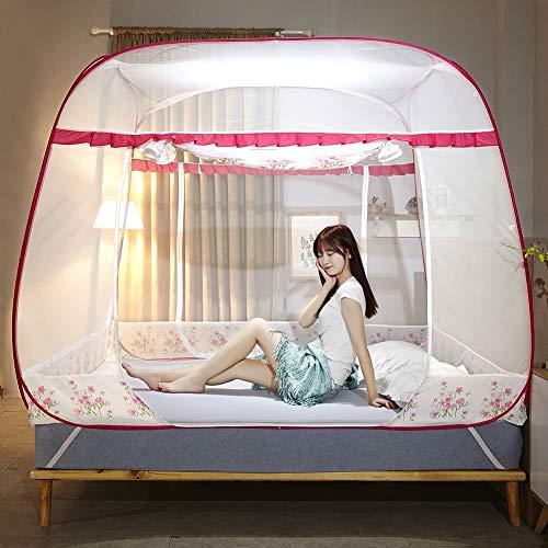 XEHbaby Moskitonetze, Klappnetze Pop-Up-Zelt Moskito-Schutz-Doppelbett, Einzelbett für Erwachsene geeignet Kinder und Babys Insekt vermeiden,180x220cm