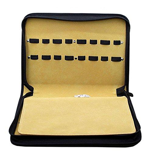 Coiffeur Coiffeur Ciseaux Sac Avec 16 Ciseaux Pinces Barber Ciseaux Sac Kit , black