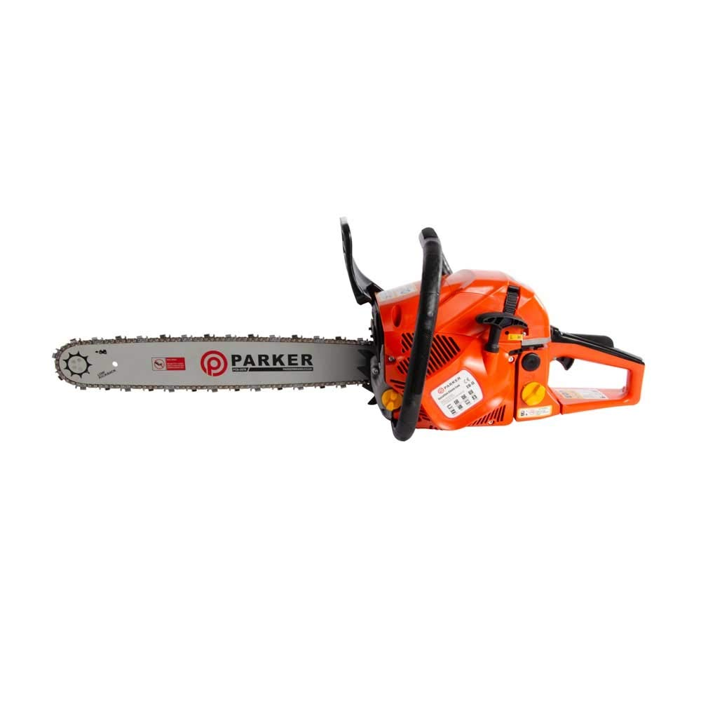 ParkerBrand 58cc 20″ Petrol Chainsaw + 2 x Chains + More