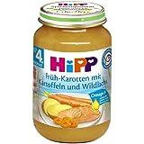 Hipp Früh-Karotten mit Kartoffeln und Wildlachs, 6er Pack (6 x 190 g)