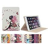 Coque en cuir synthétique intelligente AnNengJing ® pour iPad Mini1/2 avec fonction veille et réveil丨Coque modèle peint coloré丨Coque avec volet et support 丨Plusieurs choix de couleurs