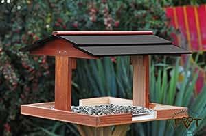 xl vogelhaus mit st nder dach schwarz dunkel vogelhaus. Black Bedroom Furniture Sets. Home Design Ideas