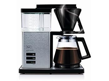 Melitta Aroma Signature De Luxe Filter Coffee Machine, Black/Stainless Steel