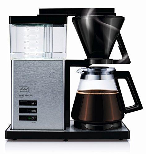 Melitta AromaSignature DeLuxe 100703, Filterkaffeemaschine mit Glaskanne, Heißbrüh-Verfahren,...