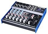 Pronomic M-802FX-MP3 Live/Studio Mischpult mit USB Schnittstelle (4 Mono-Kanäle XLR/Klinke, 2 Stereo Kanäle, MP3-Player, Bluetooth, Effektgerät, 3-Band-EQ, 48V Phantomspeisung)