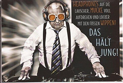Undercover Lustige Sprüche Geburtstagskarte Klappkarte 008E Das hält Jung!!