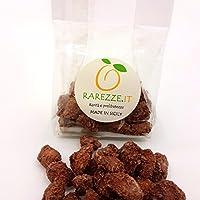 """Mandorle siciliane """"sabbiate"""" con zucchero di canna e cioccolato, in confezione ideale per composizione cesto natalizio. RAREZZE: antico laboratorio di pasticceria artigianale siciliana"""