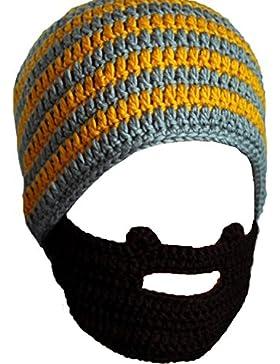 JT-Amigo Gorro de Punto con Barbas Invierno para Hombre Mujer