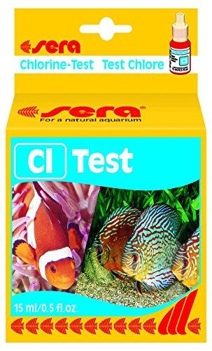 sera 04810 Cl-Test 15 ml - Chlor Test für ca. 45 Messungen, misst zuverlässig und genau den Chlorgehalt, für Süß- & Meerwasser, im Aquarium oder Teich