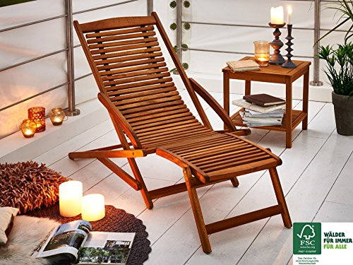 SAM® Akazie Holz Deckchair Fuki