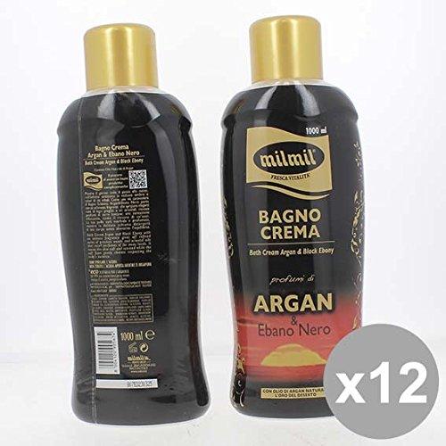 Set 12 MIL MIL Bagno 1L Argan Bagnoschiuma e saponi per il corpo