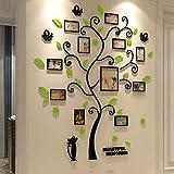 Beilinheng Acrilico 3D Famiglia Photo Frame Albero Wall Stickers Rimovibile DIY Art Poster da Parete Decalcomanie per Soggiorno Camera da Letto Decorazione della Casa 40x32 inch