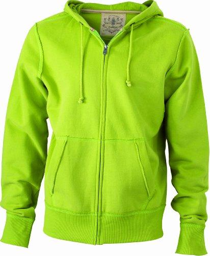 JAMES & NICHOLSON Kapuzenjacke Men's Vintage Hooded Sweatshirt - Blouson À Capuche - Homme Vert (lime-green)
