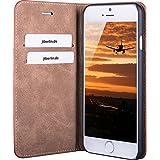 JT Berlin LederBook Hülle Tegel für Apple iPhone 7 Plus (cognac) [Echtleder | Handarbeit | Standfunktion | Kartenfächer | Magnetverschluss] - 10247