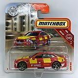 Matchbox Cars BMW M5 Red Fire Rescue 68/125 (Short Card)