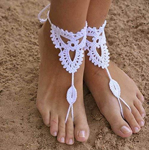 Zeagro Fußkettchen/Fußkettchen/Fußkettchen/Sandalen/gehäkelt, modisch, 2 Stück -
