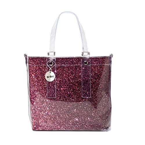 BI-BAG borsa donna modello EASY DIAMOND + pochette interna Bordeaux