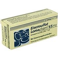 EISENSULFAT Lomapharm 65 mg überzogene Tab. 50 St Überzogene Tabletten preisvergleich bei billige-tabletten.eu