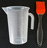 MASOOM MEASURING CUP 500 ML & SILICON OIL / PASTRY / BUTTER BRUSH