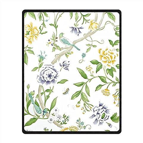 Coutume Blue and White porcelain non-tissé Couverture et Jeter Blanket