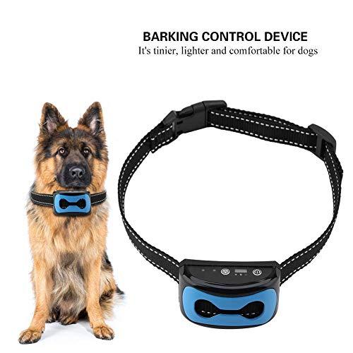 Collar Antiladridos para Perro con vibración, Dispositivo Recargable Impermeable Collar de Entrenamiento de Control de descortezamiento para Perro