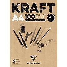 Clairefontaine bloc de papel Kraft), color marrón, blanco, 90g