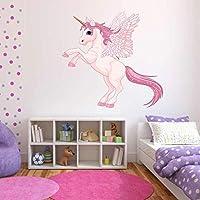 60 Second Makeover Limited A Todo Color Unicornio Alas Pegasus Adhesivo Pegatina niña Decoración De Dormitorio - Grande