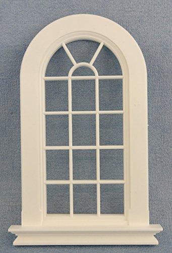fenster puppenhaus Melody Jane Puppenhaus Weiß Kunststoff Georgischer Hoch Gewölbte Fenster 16 Ausschnitt 1:12 DIY Builders