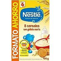 NESTLÉ Papilla 8 cereales con Galleta María - Alimento para Bebés - Paquete de 8 x 900 g - Total: 7.2 Kg