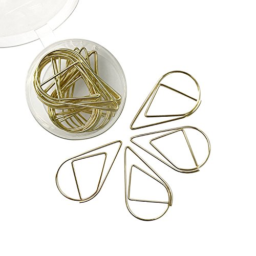 Glatte Stahldraht Tropfen Metall gold Papier Clips, Lovely Büroklammer Pins für Office Supplies Schule Dekorationen, 5cm (Alte Papier-halloween-dekoration)
