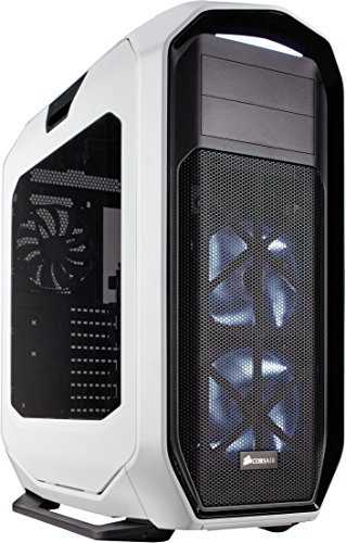 Corsair Graphite 780T Case da Gaming, Full-Tower ATX, Finestra Laterale con Due AF140 Rosso LED Ventole, Bianco